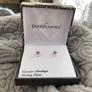 Jewelry - Amethyst Sterling Silver Stud Earrings